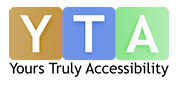 yours truly accessibility logo